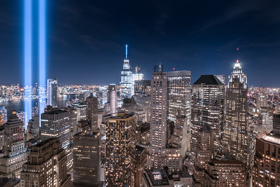 Tribute in Light 2016 (55 Water Street North West View)