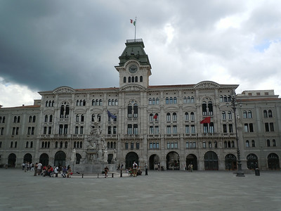 After my last lecture, I moved to a hotel in the center of Trieste, near a large square celebrating the unification of Italy in the 1800's.