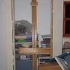 Door from studio to closet needs trim (both sides).
