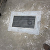 floor drains retro fit with custom made grills and catch basin