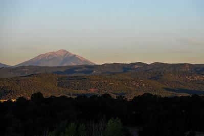 Sunrise, the beginning of the Colorado adventure.