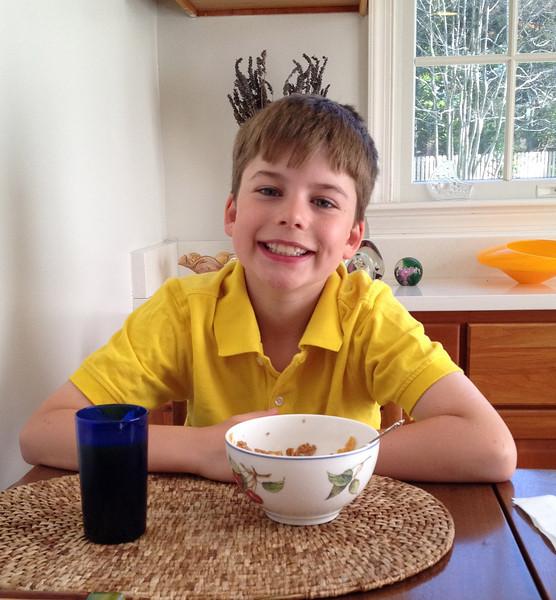 Tristan's 10th birthday (w.grandparents)2014