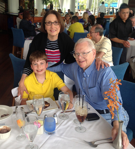 Tristan's 10th birthday (w.grandparents)2014