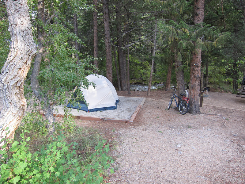 My campsite at Mt. Princeton.