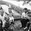 Mike Hoskins, Billy Hoskins, Bonnie Hoskins, Rose Rita Truempi, and Lisa Von Arx at Joe and Verna Von Arx's farm.