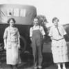 Vernie Tschumper Von Arx, Freddie Truempi,  and Louisa Truempi (Freddie's sister).