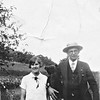 Sophie Elizabeth Tschumper (married Fred Truempi), standing next to Mr. Stark, her first cousin