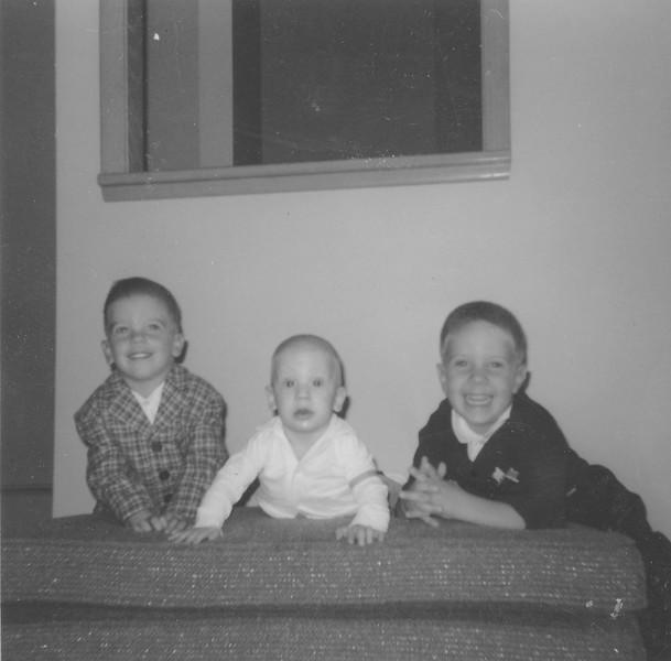 Dennis and Shirley Truempi's boys - Brian (2yrs), Craig, (6mo), and Scott (3 1/2 yrs).