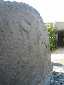 close-up of concrete sculpture