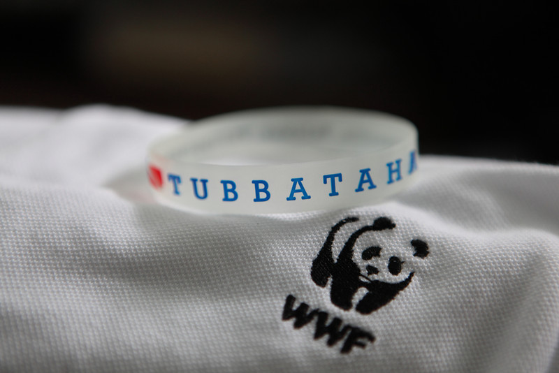 """Stuff to wear in Tubbataha. The baller with the word """"Tubbataha"""" was given to us by the Tubbataha Management Office, an incredible group of dedicated people who work hard 24/7 to keep the area safe. The WWF is one of the main partners in keeping Tubbataha protected and well managed. It was a great feeling to be on this trip with such dedicated eco warriors."""