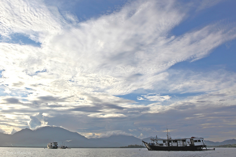 The Navorca's mooring in Palawan.