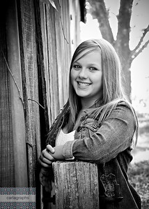 Jessica Side of Barn bw-