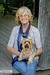 Barbara and Tucker at Cabin-