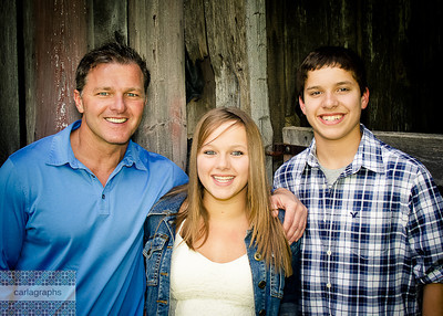 Family in Front of Barn Color Bright-