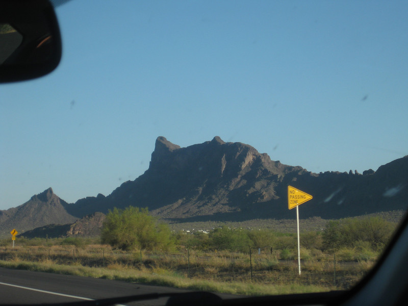 Sophie took this shot of Picacho Peak as we were approaching Tucson.