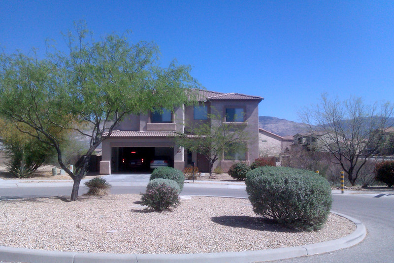 The front of Mike and Cathy's house in Tucson.
