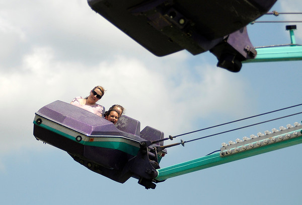 Don Knight/The Herald Bulletin<br /> Fun on the midway during the 4-H Fair on Tuesday.