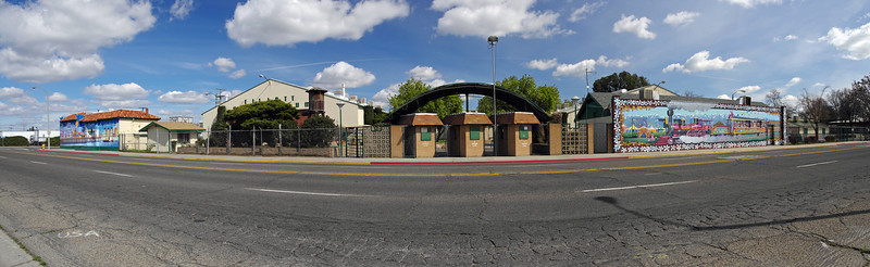 The Tulare County Fairgrounds panoramic view along South K St