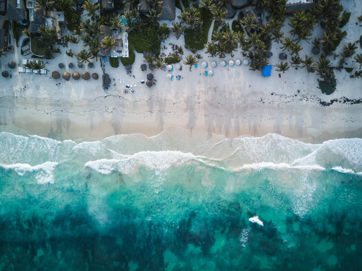 Arial View of Tulum Mexico