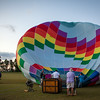 A few balloonists decide to give it a try.