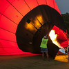 Inflating the second balloon.