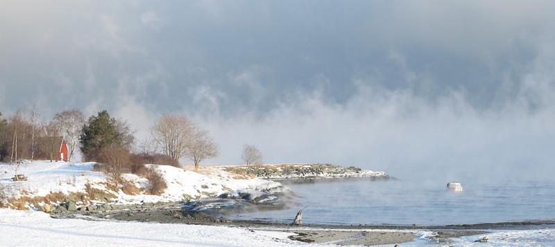 Rotvollfjæra on the Trondheimsfjord , winter