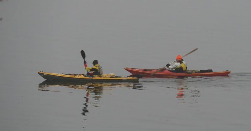 Kajakkpadlere på Mjøsa