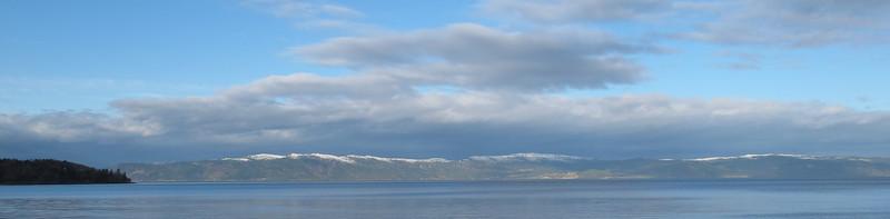 Trondheimsfjorden vinterfjell