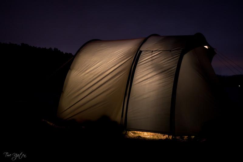 kveld i teltet