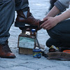 Shoeshine in Ortakoy, Istanbul.