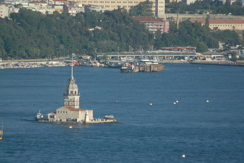 The Maiden's Tower (Kiz Kulesi), in the Bosphorus Strait. Istanbul