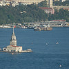 The Maiden's Tower (Kiz Kulesi), in the Bosphorus Strait. Istanbul