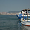 Ships in harbor, Turkey.