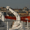From the deck of the Ukrainian ship m/v Yuzhnaya Palmyra, a view across to Karakoy pier, Istanbul.