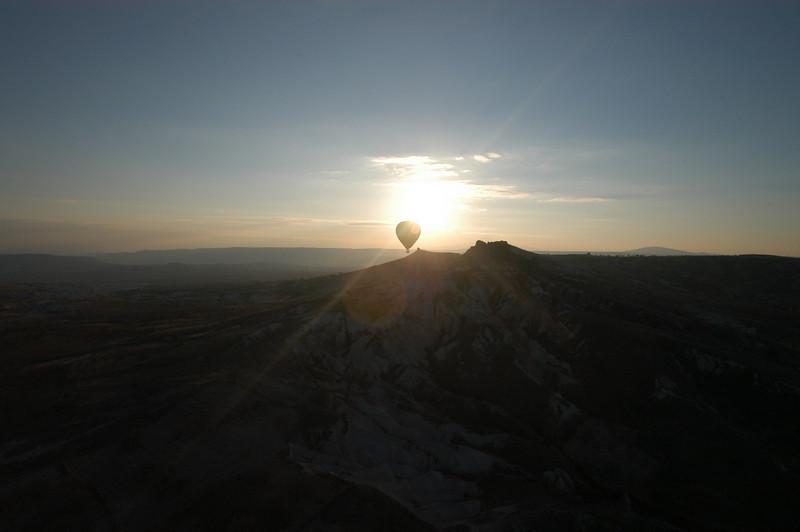 Balloon at sunrise, Cappadocia, Turkey.