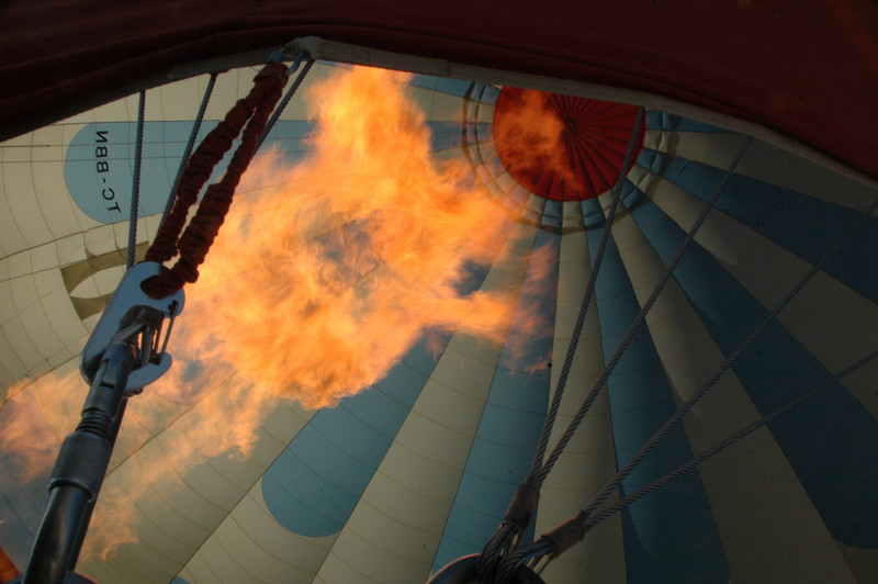 Detail of hot air balloon, Cappadocia region of Turkey.