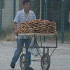 Pretzel cart, Istanbul, Turkey waterfront.
