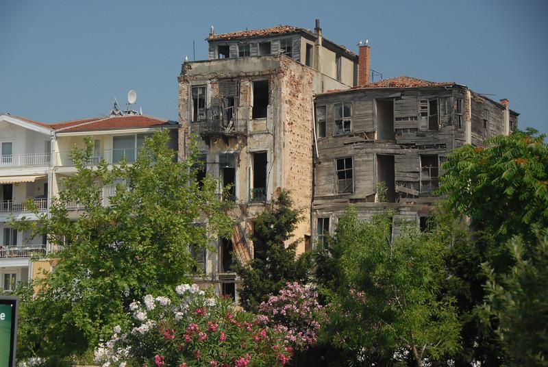 Old houses, Buyukada, Princes Islands, Turkey.