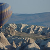 Hot air balloon ride at dawn, Cappadocia, Turkey.