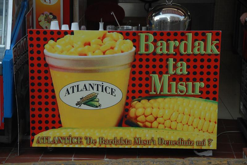 Advertisement for corn, Turkey.