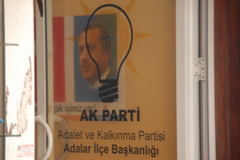 Justice and Development (AK) Party office, Heybeliada Island, Turkey.