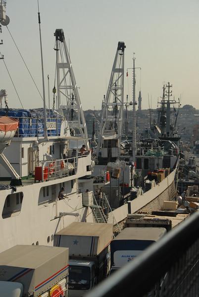 Ship on the Bosphorus Strait, Turkey.