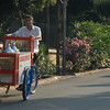 An ice cream boy and his cycle, Turkey.