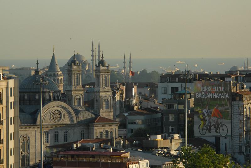 Skyline from Taksim Square, Istanbul.