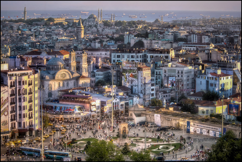 Taksim Square, Istanbul, Turkey - HDR.