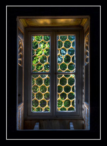 Window at the Topkapi Palace, Istanbul, Turkey.