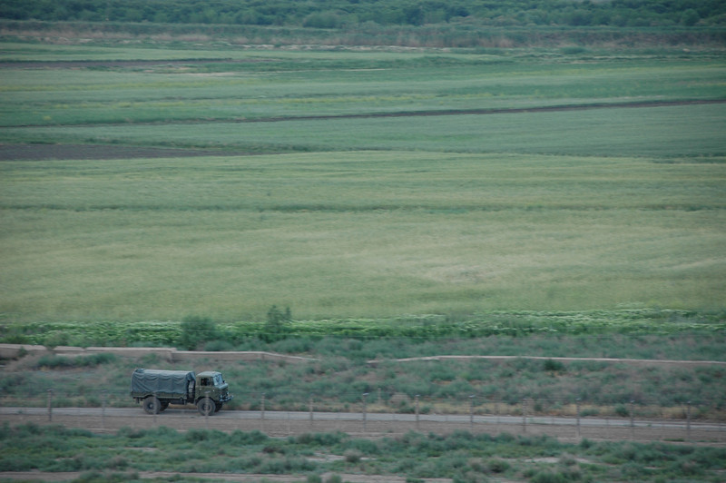 Military transport, Turkish/Armenian border.