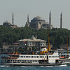 Passenger ferry entering the Golden Horn, Istanbul, Turkey