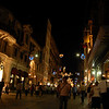 Night view, Istiklal Caddesi (Independence Avenue), the main predominantly pedestrian shopping street, Istanbul, Turkey.