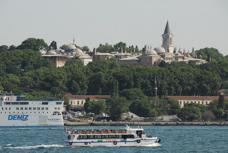 Topkapi Palace and Golden Horn, Istanbul, Turkey.